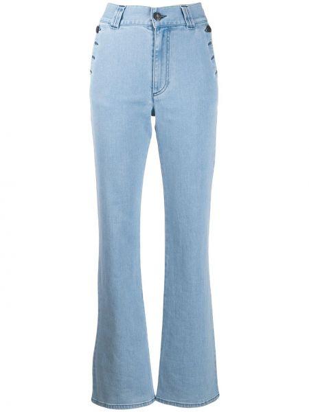 Расклешенные джинсы с карманами на молнии See By Chloe