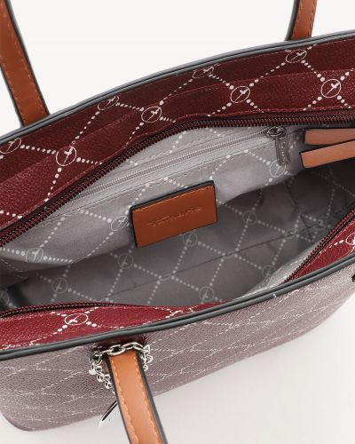 Бордовая сумка шоппер Tamaris