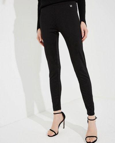 Черные леггинсы Versace Jeans