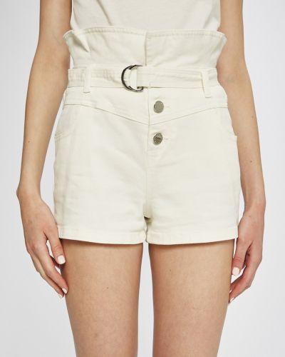 Джинсовые шорты белые с карманами Morgan