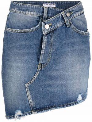Spódnica jeansowa z paskiem - niebieska Icon Denim