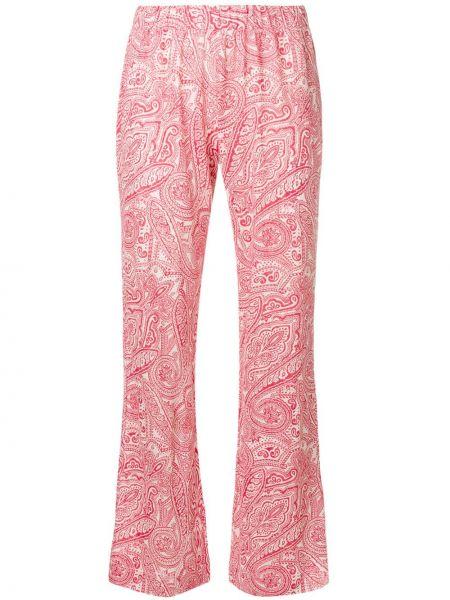 Льняные расклешенные брюки с рисунком Le Tricot Perugia