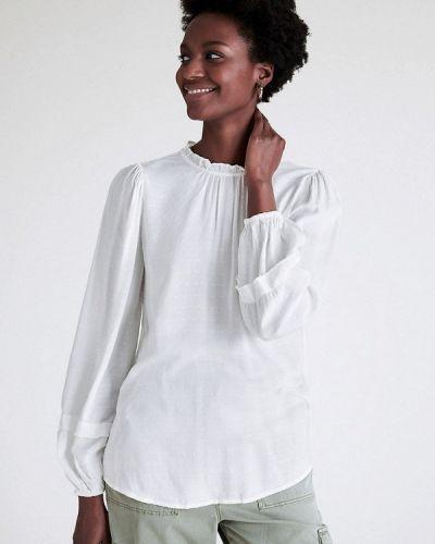 Белая блузка с длинными рукавами Marks & Spencer