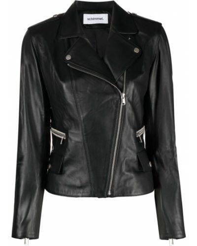 Черная кожаная куртка на молнии Sylvie Schimmel