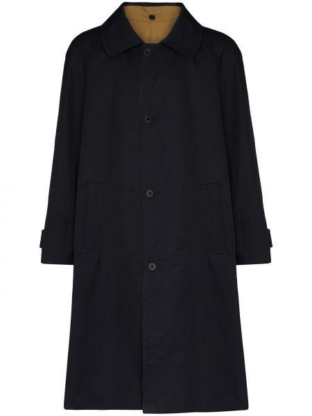 Синее длинное пальто с воротником на пуговицах с карманами Lou Dalton