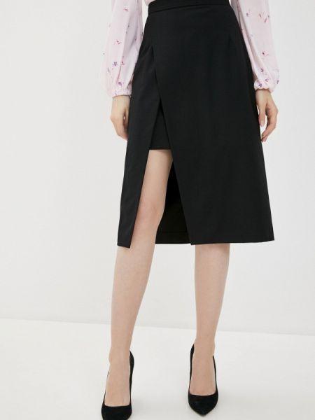 Черная юбка карандаш с рукавом 3/4 Annborg