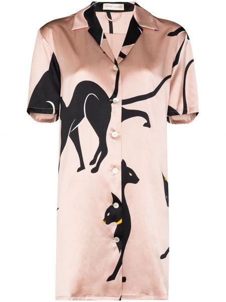Рубашка с коротким рукавом - розовая Olivia Von Halle