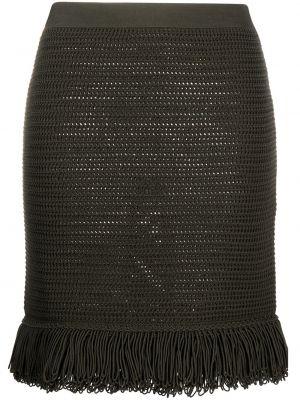 Trykotowy zielony bawełna bawełna spódnica Bottega Veneta
