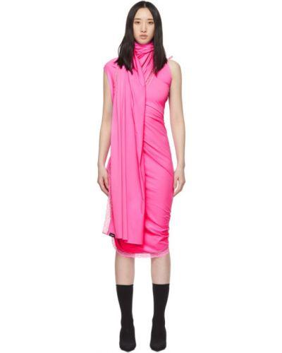 Платье розовое с запахом Vetements
