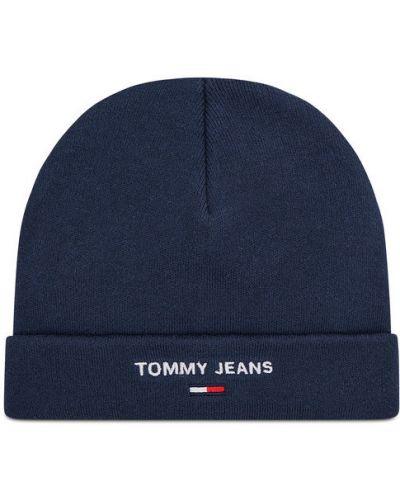 Czapka beanie granatowa Tommy Jeans