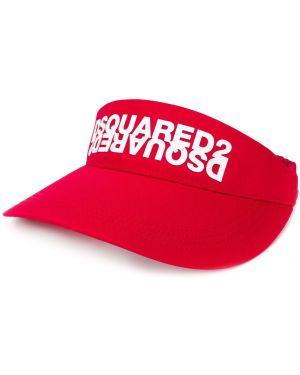 Красный хлопковый козырек эластичный Dsquared2