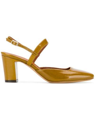 Туфли на каблуке зеленый с открытой пяткой Michel Vivien