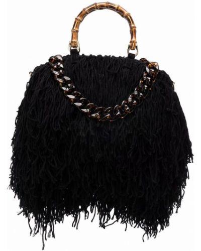 Czarna torebka wełniana La Milanesa