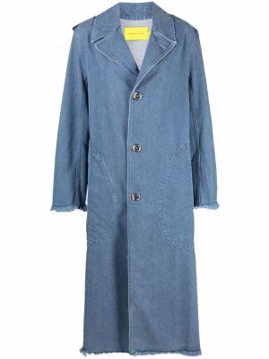 Синее хлопковое пальто Marques'almeida