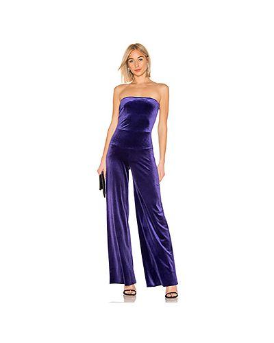 Комбинезон вельветовый фиолетовый Norma Kamali