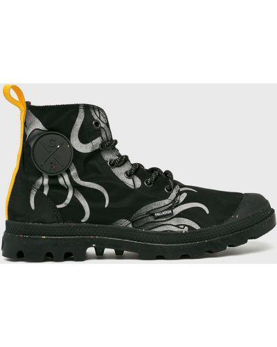 Ботинки на шнуровке высокие черные Palladium