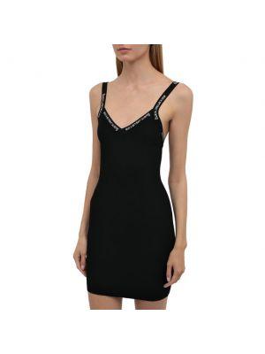 Черное платье из вискозы Alexanderwang.t