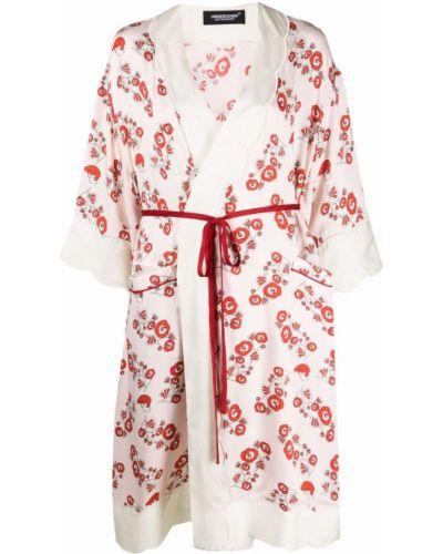 Розовое платье с запахом из вискозы Undercover