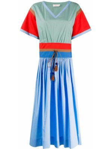 Платье миди мини с V-образным вырезом Tory Burch