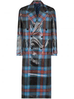 Niebieski płaszcz dwurzędowy wełniany Charles Jeffrey Loverboy