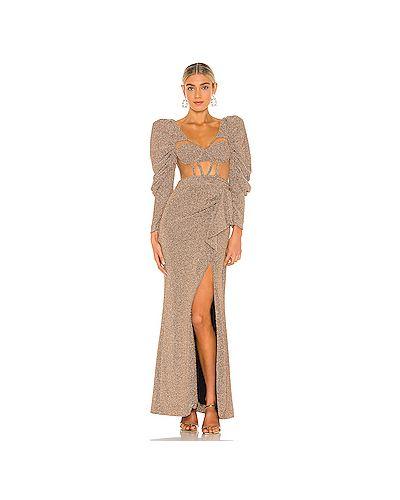 Платье сетчатое с люрексом с чашками с сеткой Patbo