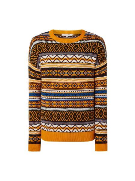 Prążkowany pomarańczowy sweter bawełniany Review
