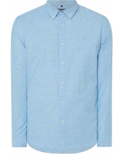 Niebieska koszula oxford bawełniana z długimi rękawami Mcneal