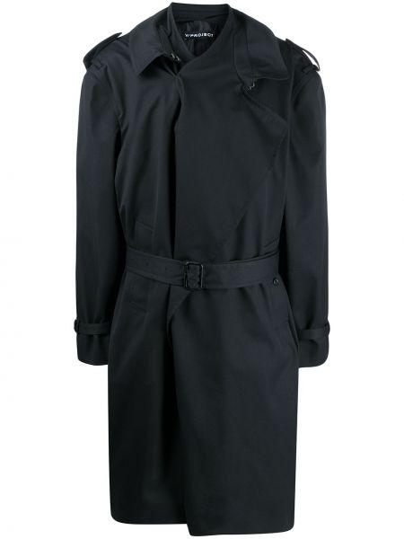 Хлопковый синий длинное пальто на пуговицах Y/project
