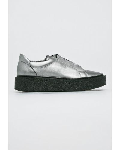 Кожаные туфли на шнуровке текстильные Gino Rossi