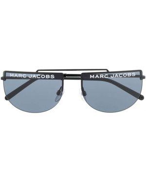 Муслиновые черные солнцезащитные очки круглые Marc Jacobs Eyewear
