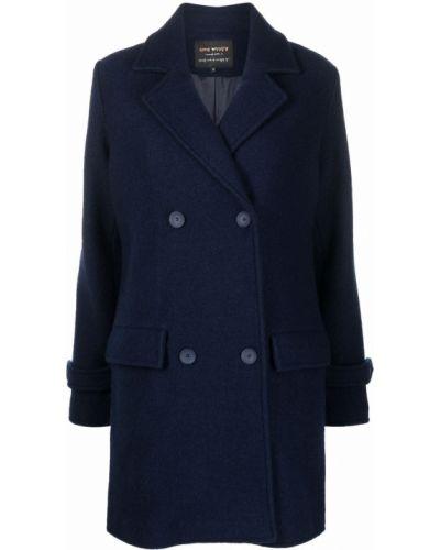 Синее пальто длинное Alessia Santi