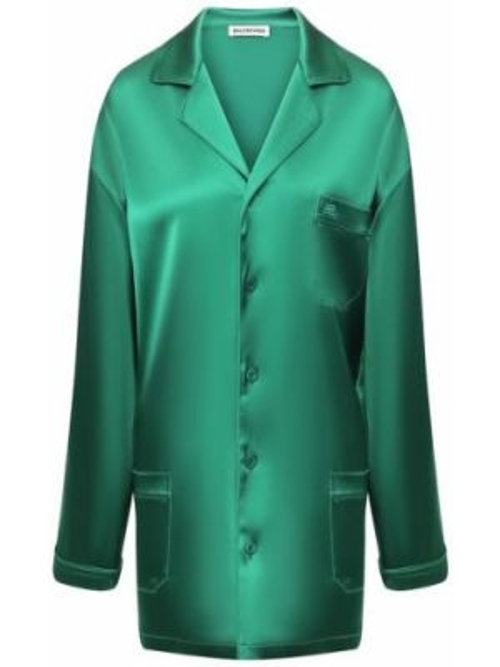 Рубашка сатиновая свободного кроя Balenciaga