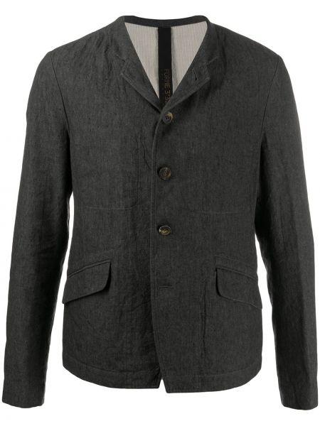 Серый классический пиджак на пуговицах с лацканами из вискозы Forme D'expression