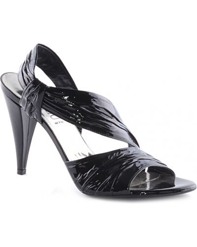 Босоножки на каблуке лаковые Loriblu