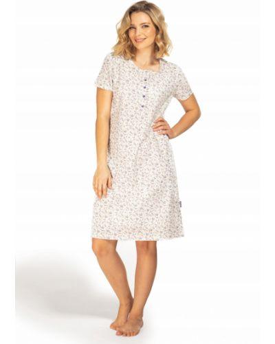 Fioletowa koszula krótki rękaw bawełniana Envie