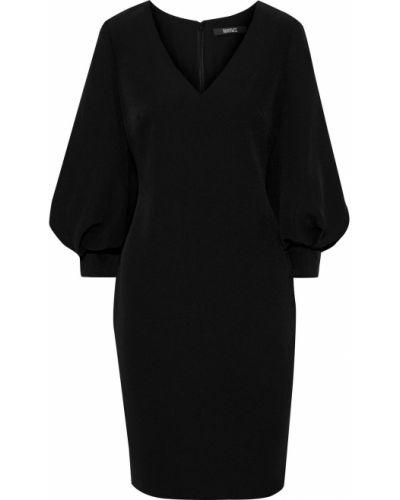 Черное платье из крепа Badgley Mischka