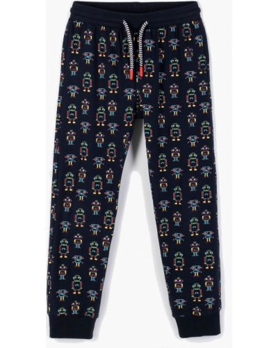 Трикотажные спортивные брюки - синие Coccodrillo