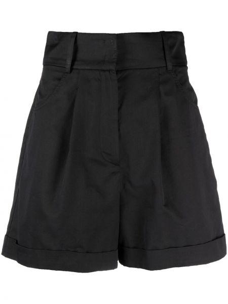 Черные с завышенной талией шорты с карманами Federica Tosi