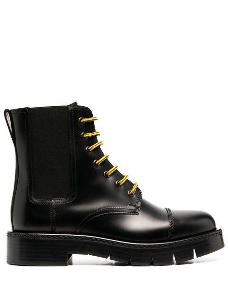 Кожаные ботинки челси - черные Salvatore Ferragamo