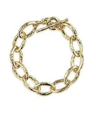 Золотистый золотой браслет золотой Ippolita