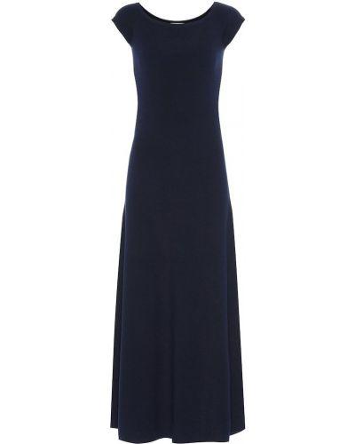 Платье макси шерстяное синее Gabriela Hearst