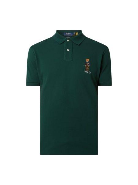 Bawełna bawełna zielony t-shirt z haftem Polo Ralph Lauren