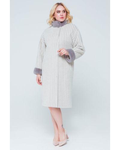Пальто из альпаки - белое Emass