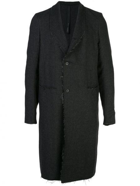 Шерстяная черная куртка на пуговицах с карманами Poème Bohémien