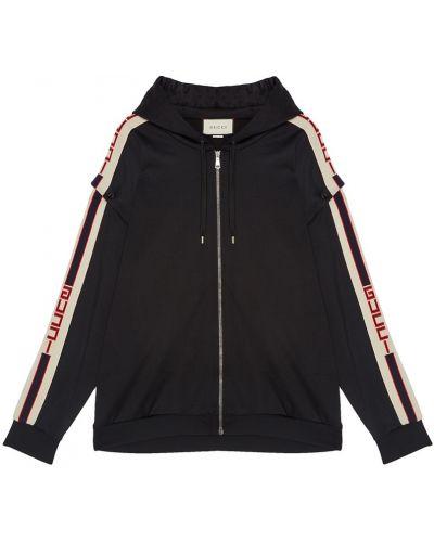 Черное худи на молнии Gucci