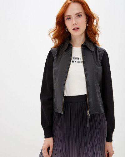 Кожаная куртка черная осенняя Seventy