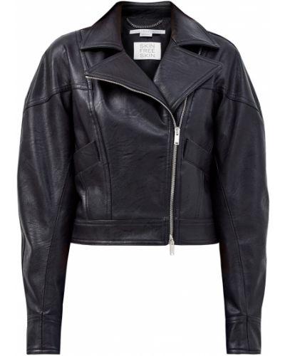 Кожаная куртка на молнии - черная Stella Mccartney