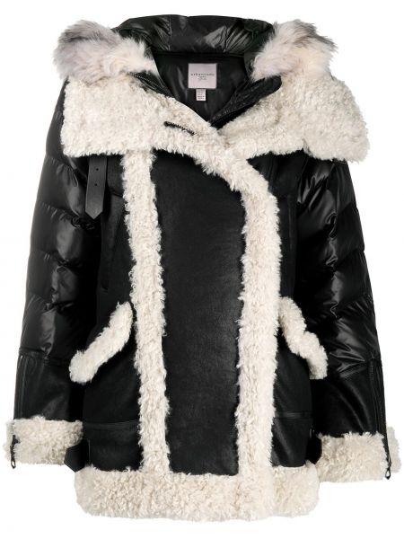 Черное прямое шерстяное пальто с воротником Urbancode