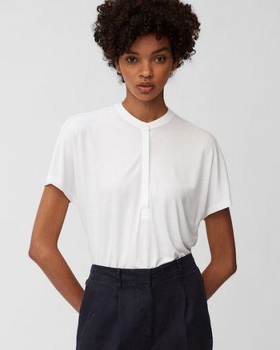 Biała koszulka ze stójką Marc O Polo