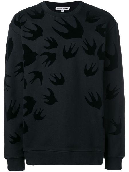 Bluza z nadrukiem czarny Mcq Alexander Mcqueen